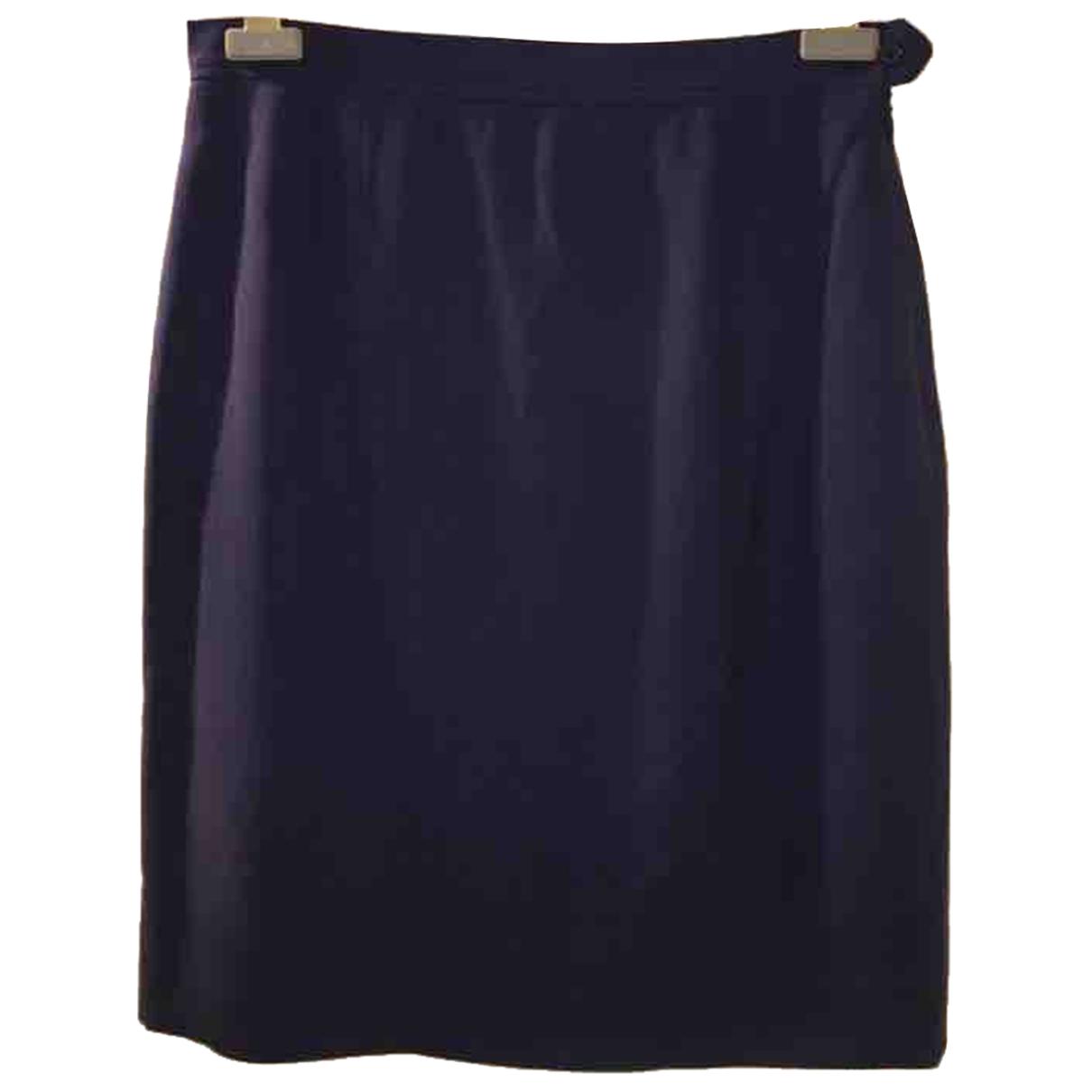 Yves Saint Laurent \N Blue Silk skirt for Women 38 FR