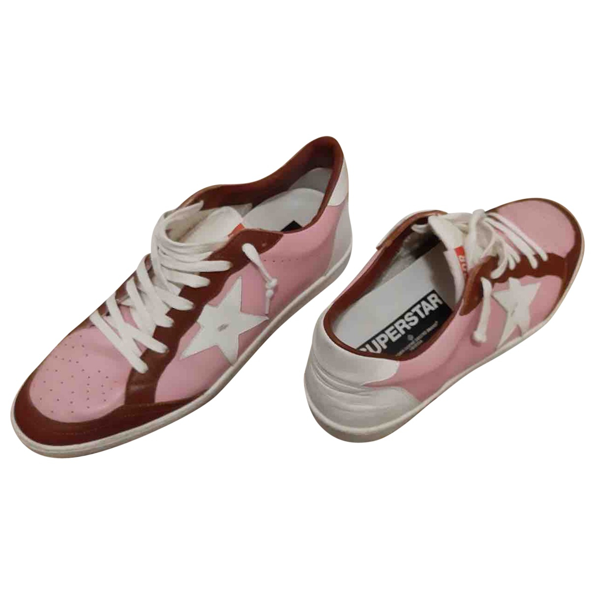 Golden Goose Ball Star Pink Leather Trainers for Men 43 EU