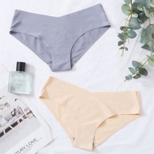 2pack Plain Seamless Panty Set