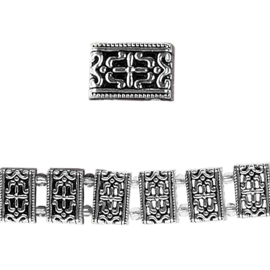 Bead Gallery® Silver-Plated Rectangle Sliders, 16Mm | Michaels®