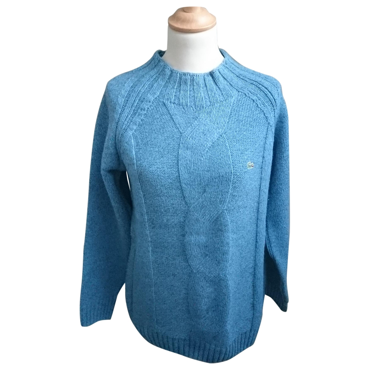 Lacoste \N Pullover in  Blau Wolle