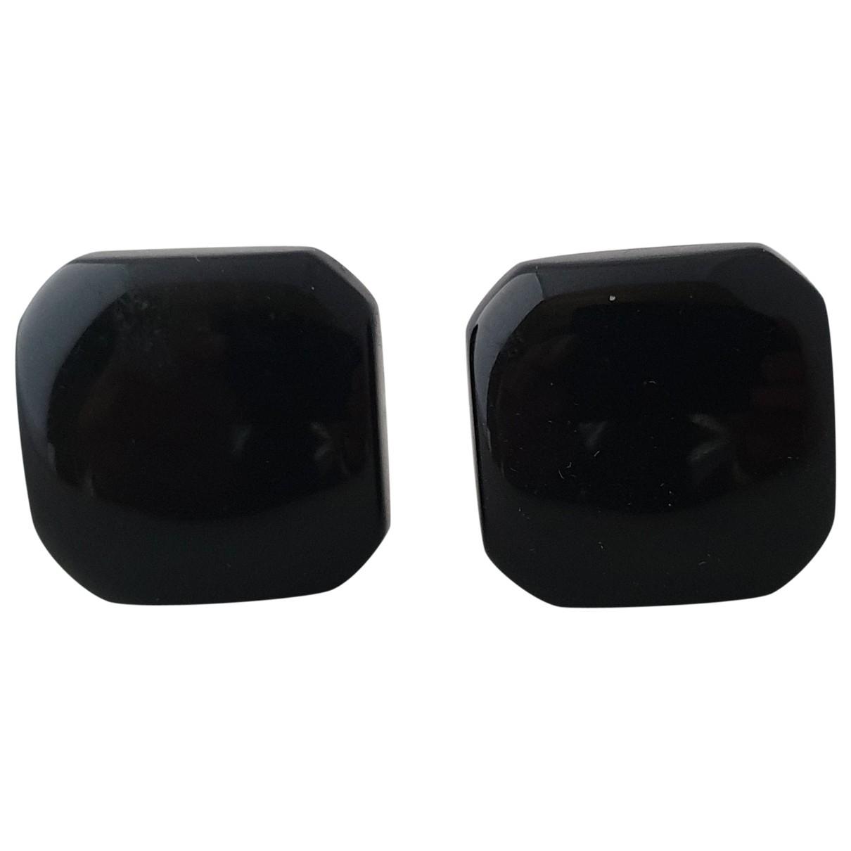 Trifari - Boucles doreilles   pour femme en metal - noir