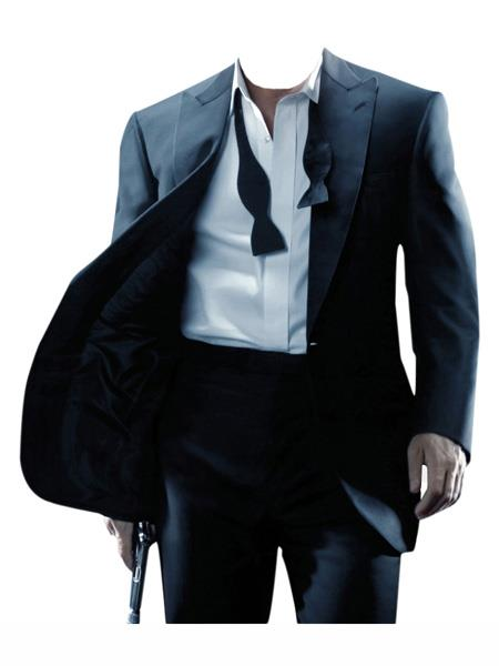 james bond ~ Daniel Craig Look Suit Tuxedo Black