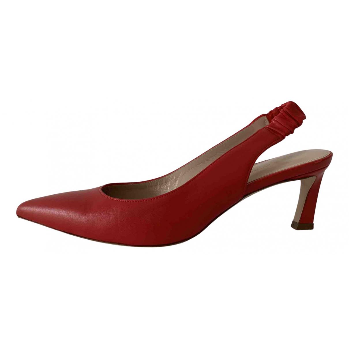 Stuart Weitzman - Escarpins   pour femme en cuir - rouge