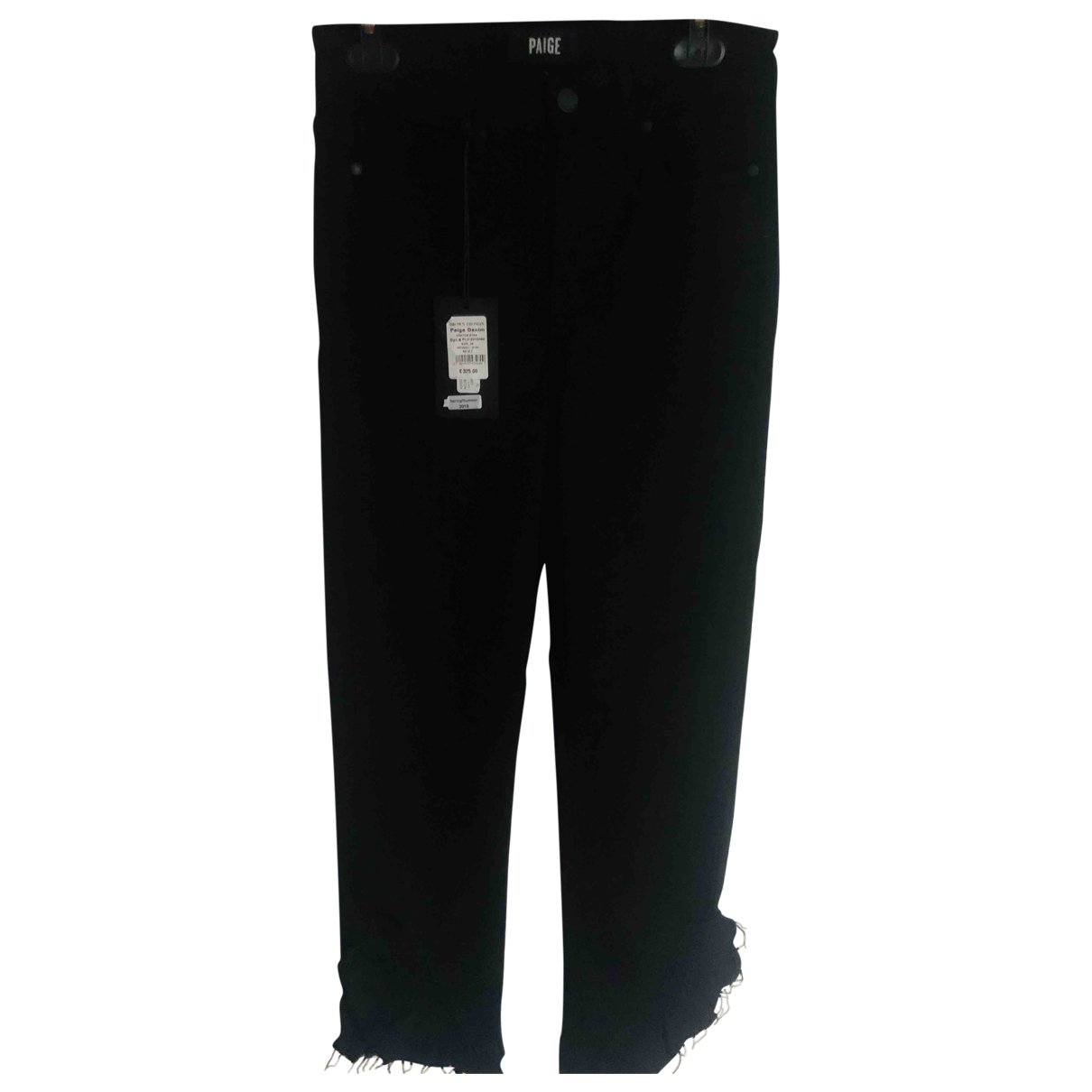 Paige Jeans \N Black Cotton - elasthane Jeans for Women 26 US