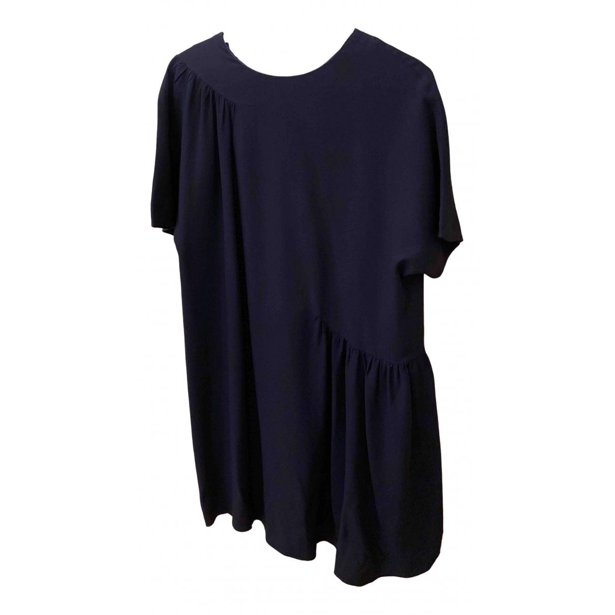 Msgm \N Kleid in  Blau Viskose