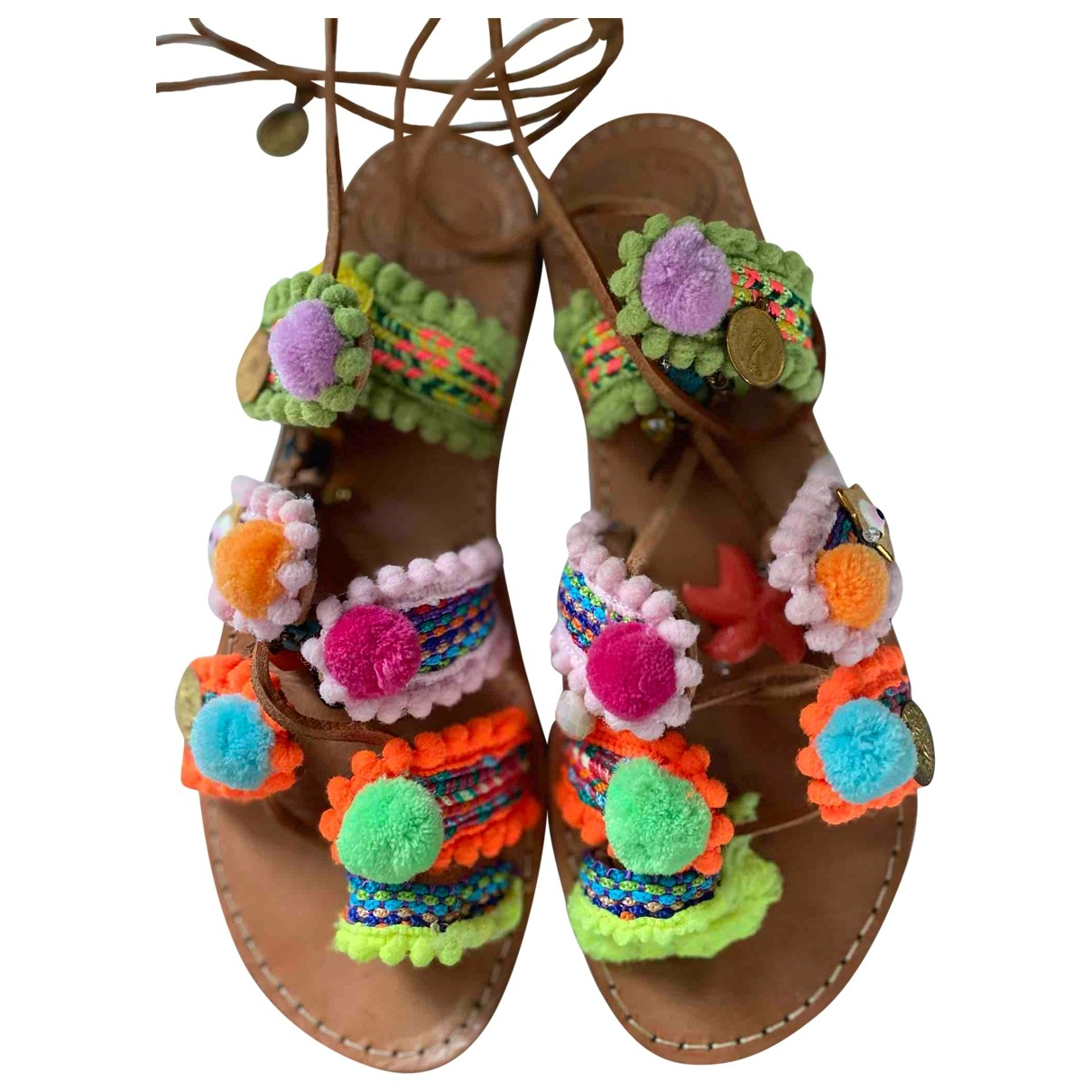 Non Signé / Unsigned \N Leather Sandals for Women 38 EU