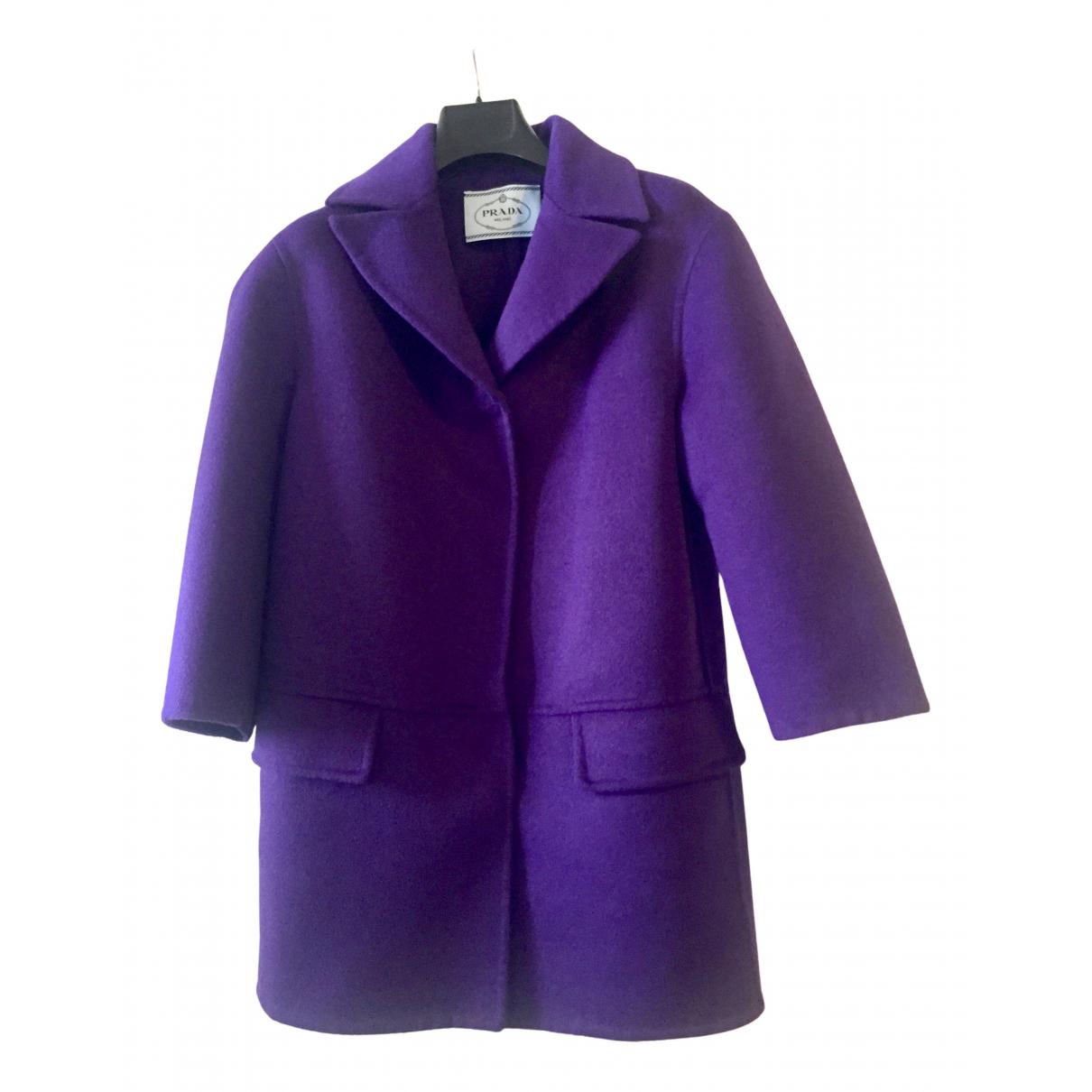 Prada - Manteau   pour femme en laine - violet