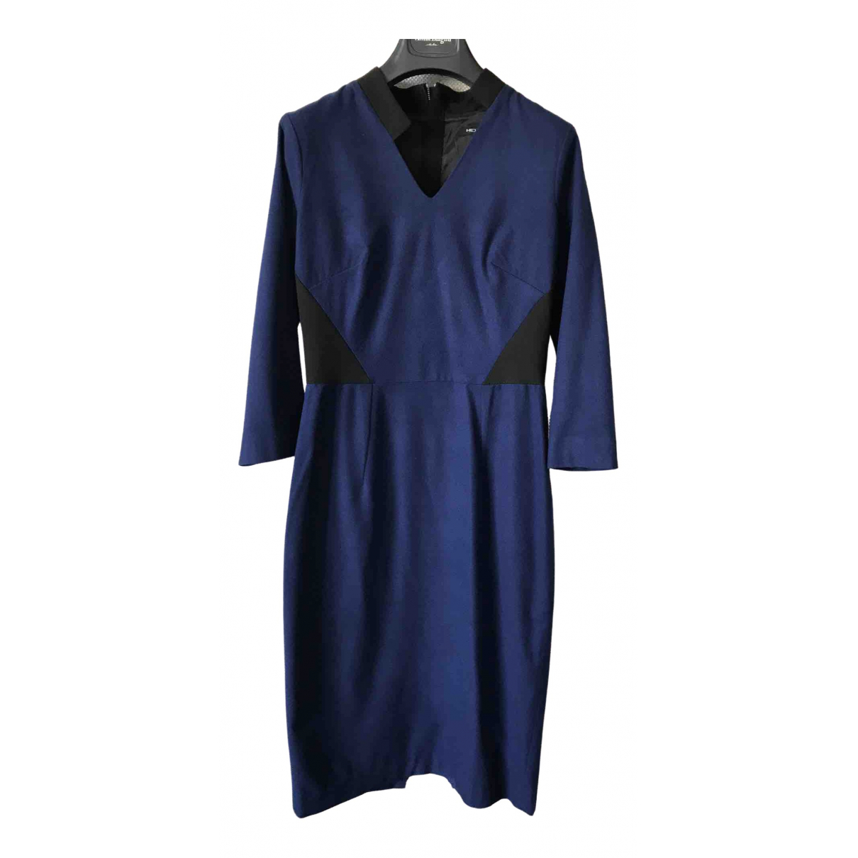 Non Signe / Unsigned \N Kleid in  Blau Wolle