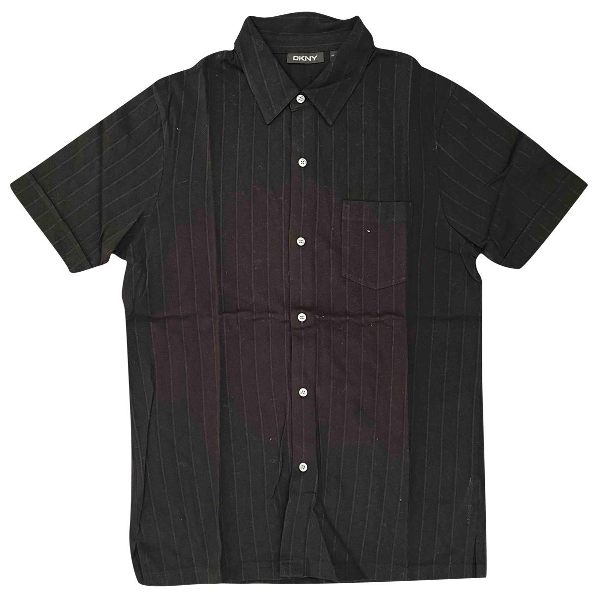 Dkny - Polos   pour homme en coton - noir