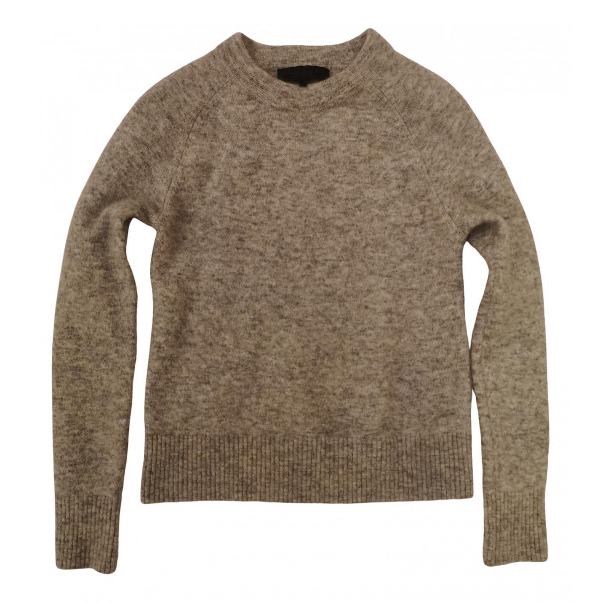 American Retro - Pull   pour femme en laine - gris