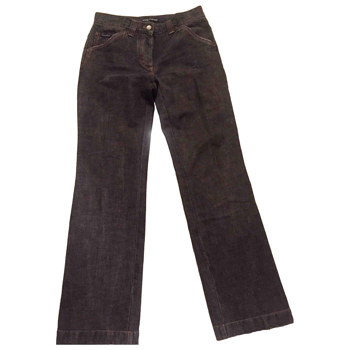 Dolce & Gabbana \N Black Denim - Jeans Jeans for Women 28 US