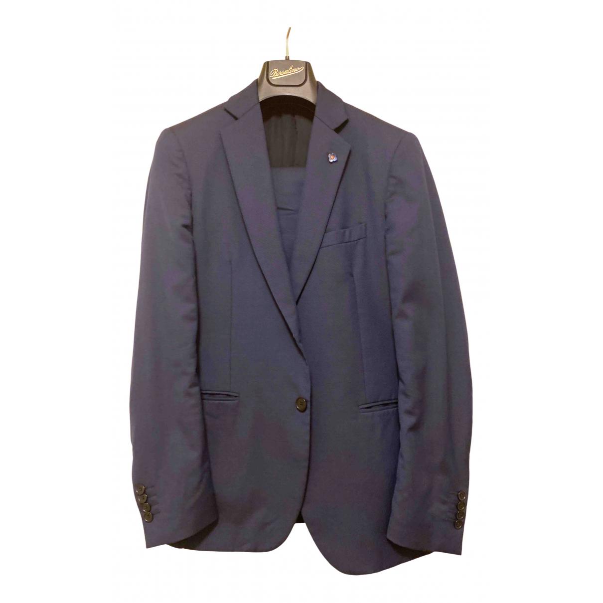 Lardini - Costumes   pour homme en laine - bleu