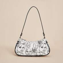 Figure Graphic Baguette Bag