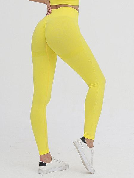 Milanoo Yoga Pants Stretchy Soft Pink Yoga Leggings