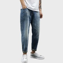 Maenner Katze Whisker Jeans
