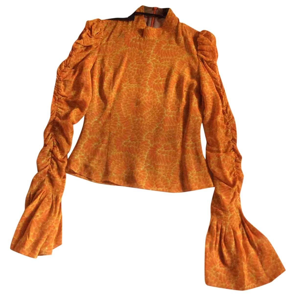 De La Vali \N Orange  top for Women 8 UK