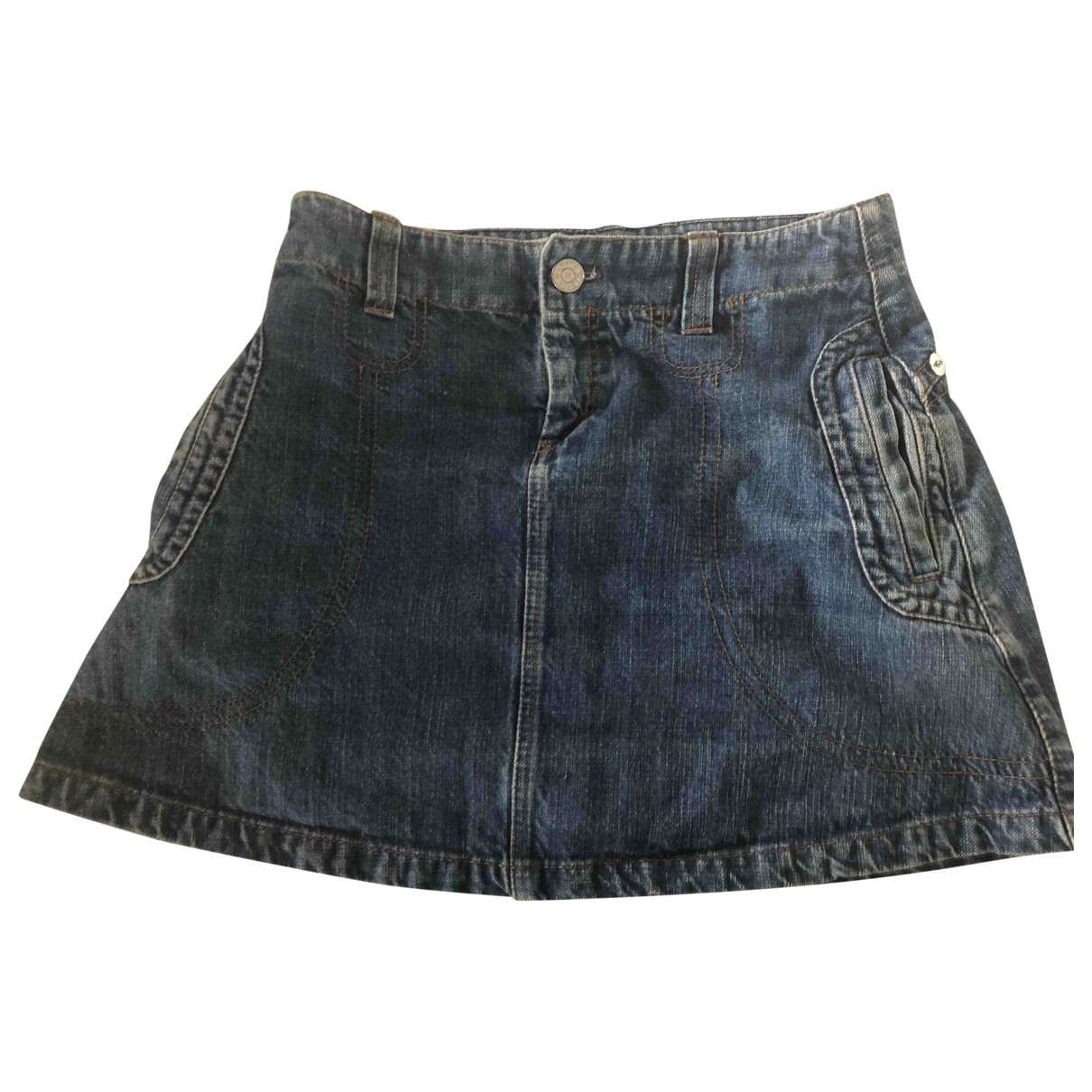 Max & Co \N Blue Denim - Jeans skirt for Women 40 FR