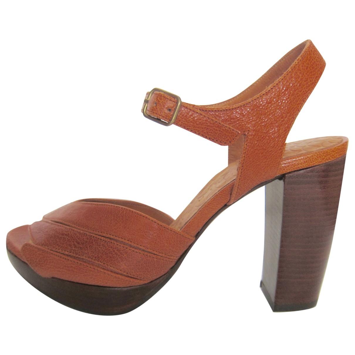 Chie Mihara - Sandales   pour femme en cuir - camel