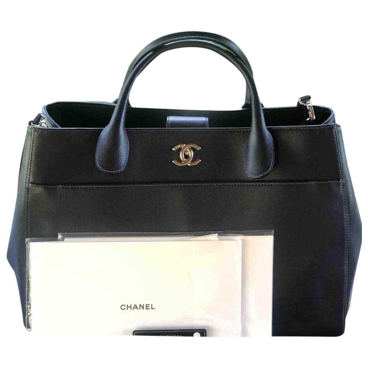 Chanel - Sac a main Executive pour femme en cuir - marine