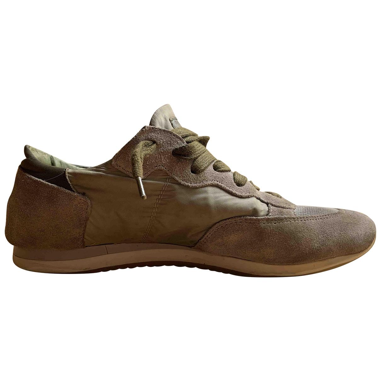 Philippe Model \N Sneakers in  Khaki Leinen