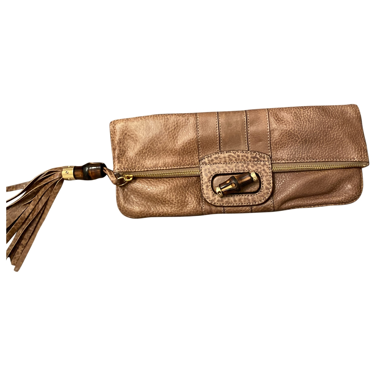 Gucci Bamboo Brown Leather Clutch bag for Women \N
