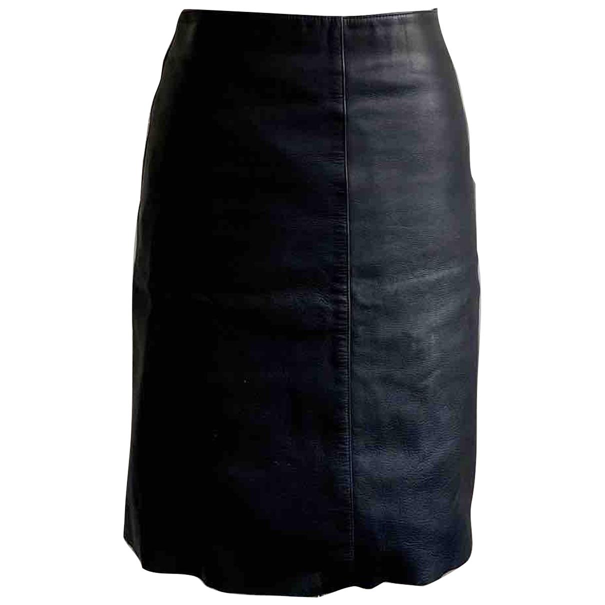 Apc \N Blue Leather skirt for Women 36 FR