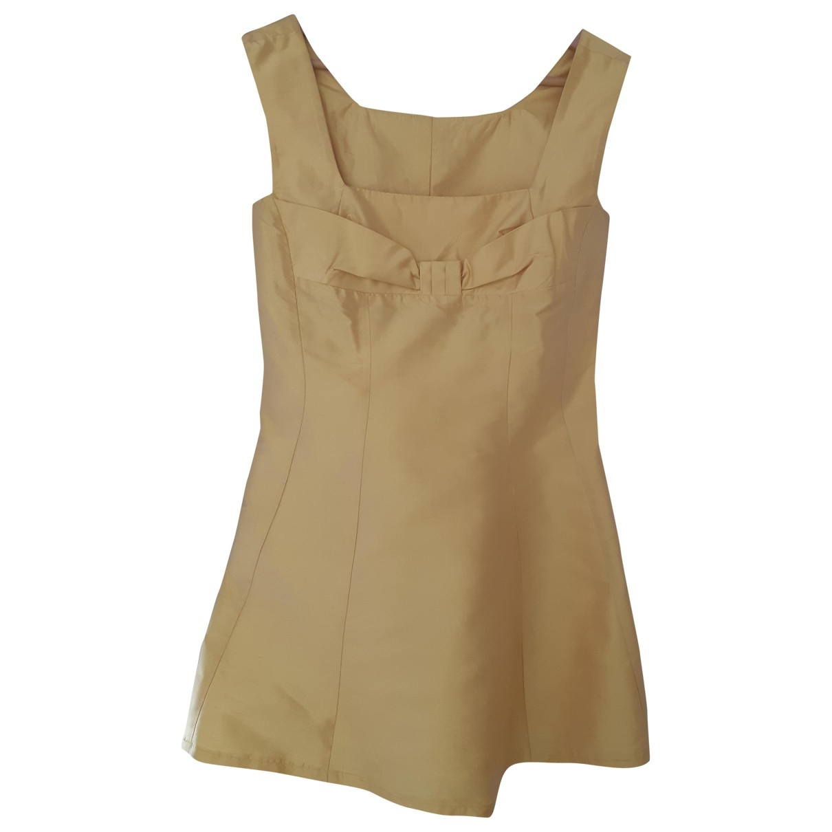 Tara Jarmon \N Yellow Silk dress for Women 36 FR