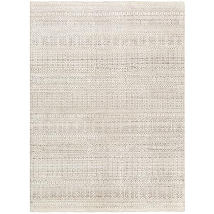 Nobility NBI-2307 2' x 3' Rectangle Traditional Rug in Charcoal  Camel  Light Gray  Ivory