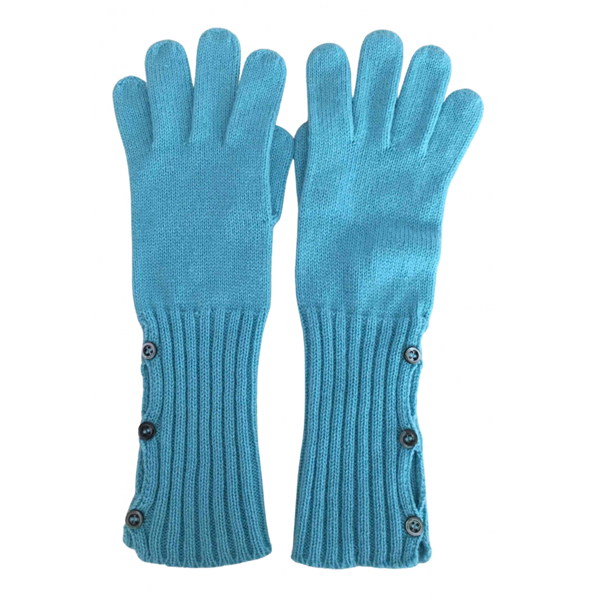Malo N Blue Cashmere Gloves for Women S International