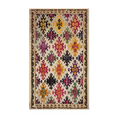 Safavieh Monaco Collection Flint Geometric Area Rug, One Size , Multiple Colors