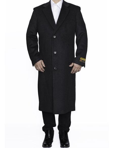 Mens Big And Tall Trench Coat Overcoat Topcoat 4XL 5XL 6XL Charcoal