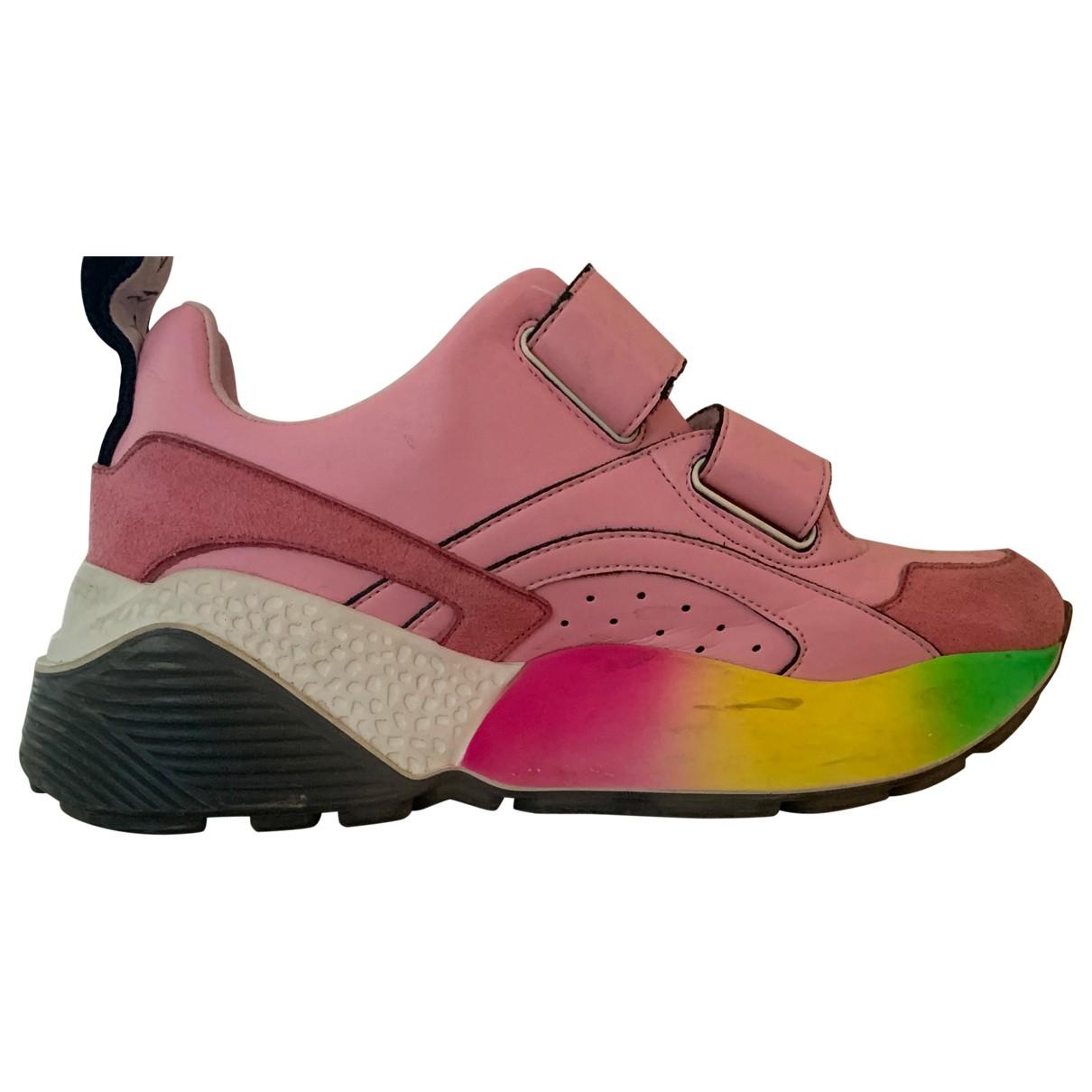 Stella Mccartney Eclypse Sneakers in  Rosa Leder