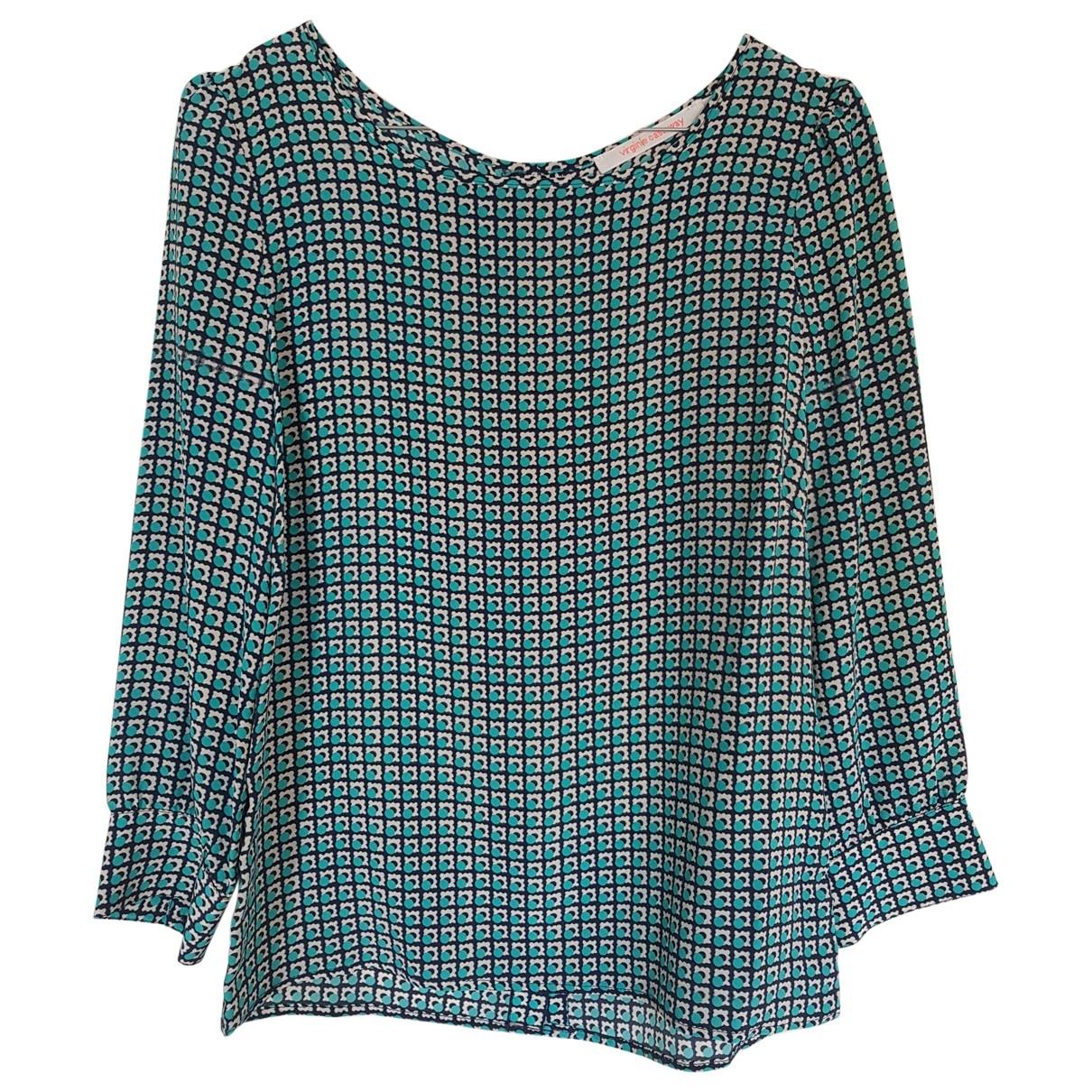 Virginie Castaway - Top   pour femme en soie - vert