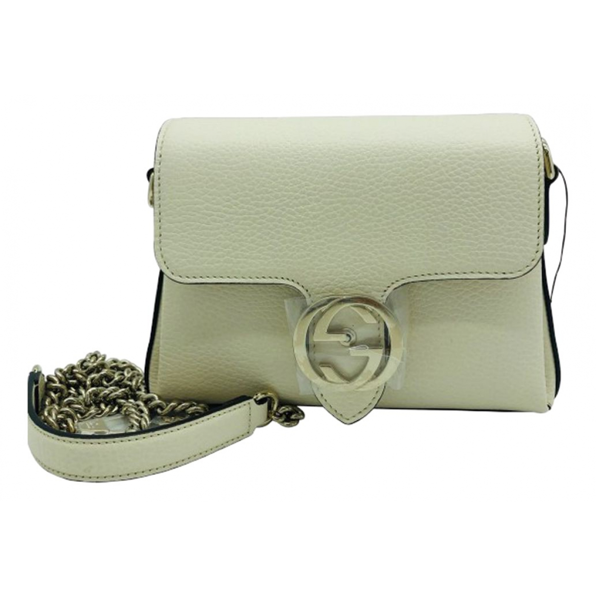 Gucci Interlocking Beige Leather handbag for Women \N