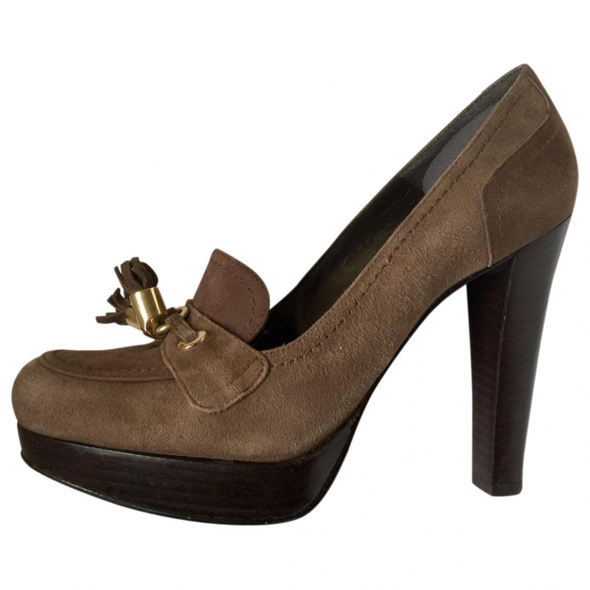 Stuart Weitzman \N Brown Suede Heels for Women 7.5 US