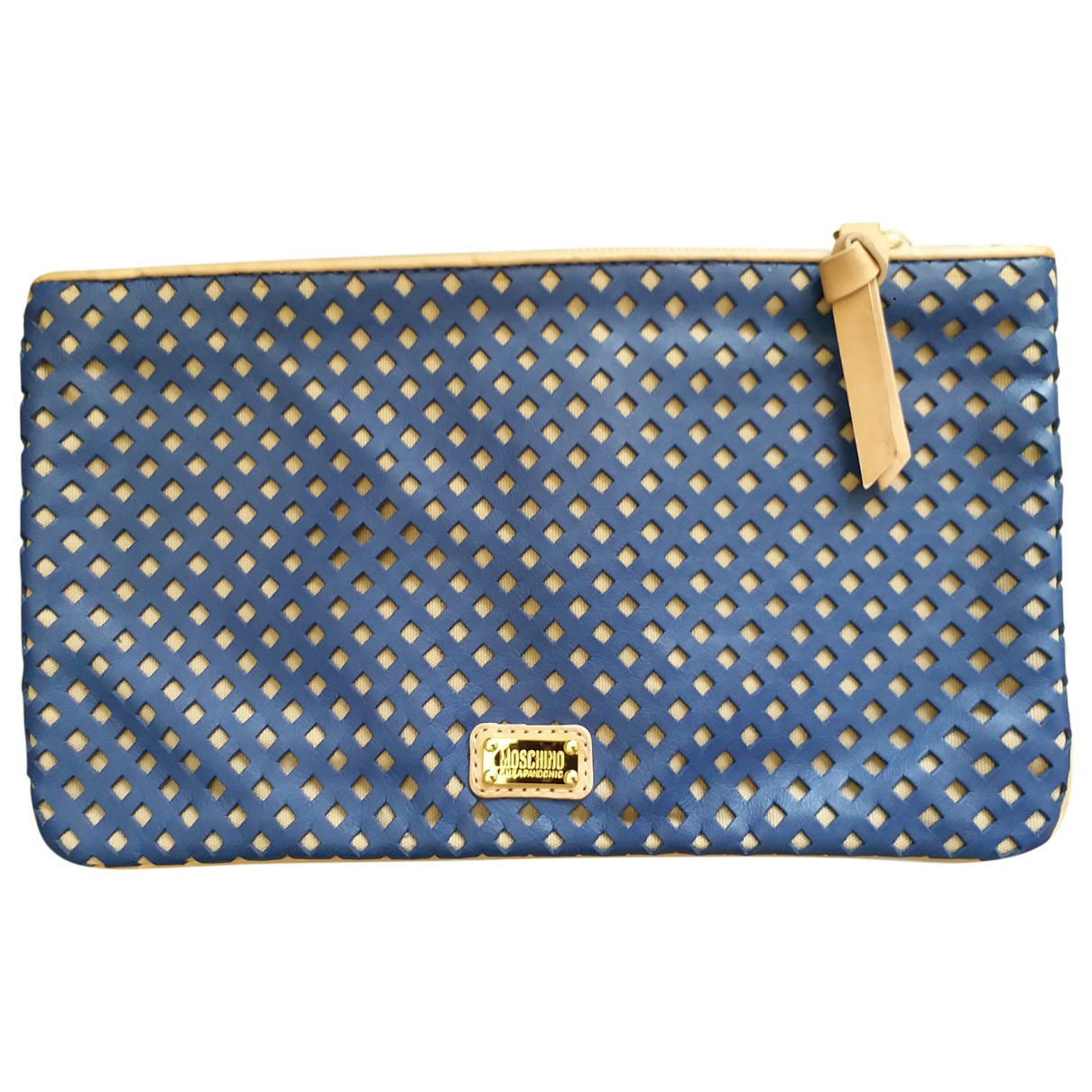 Moschino Cheap And Chic \N Clutch in  Marine Leder