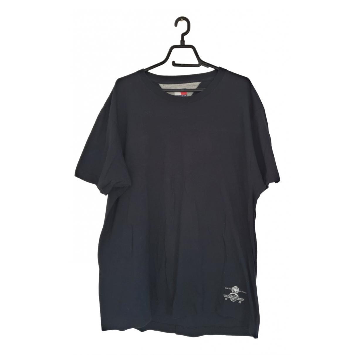 Tommy Hilfiger - Tee shirts   pour homme en coton - noir