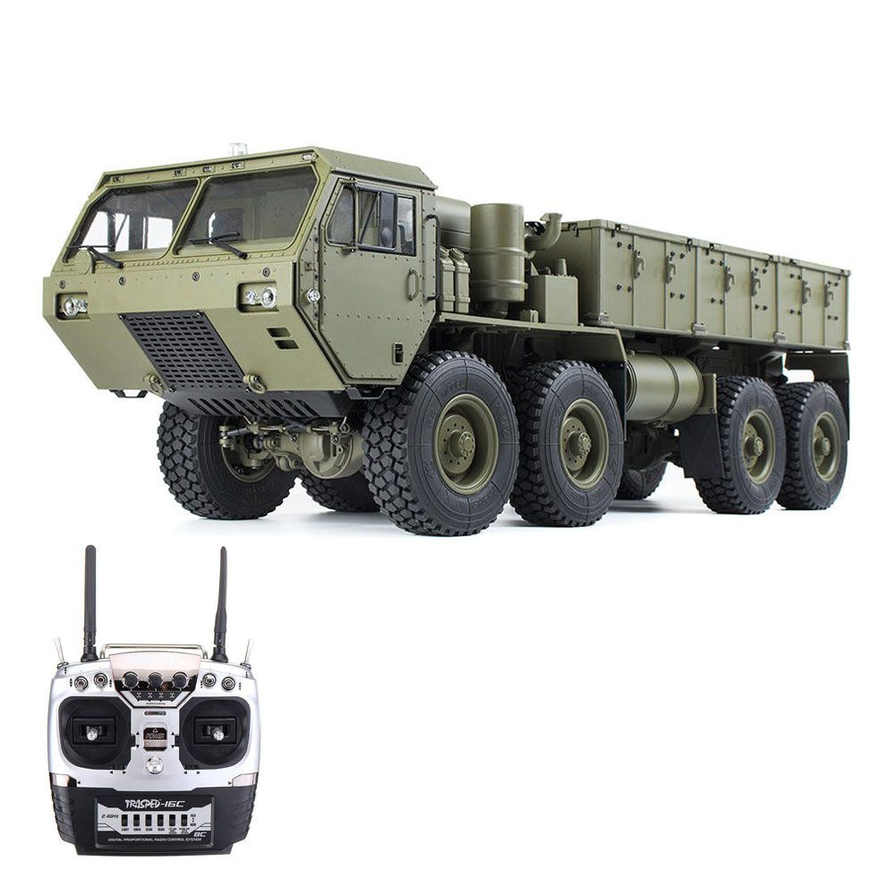 HG HG-P801 M983 Light Sound Function Version 2.4G 8CH 1:12 8x8 US Army Military Truck RC Car Without Battery Charger