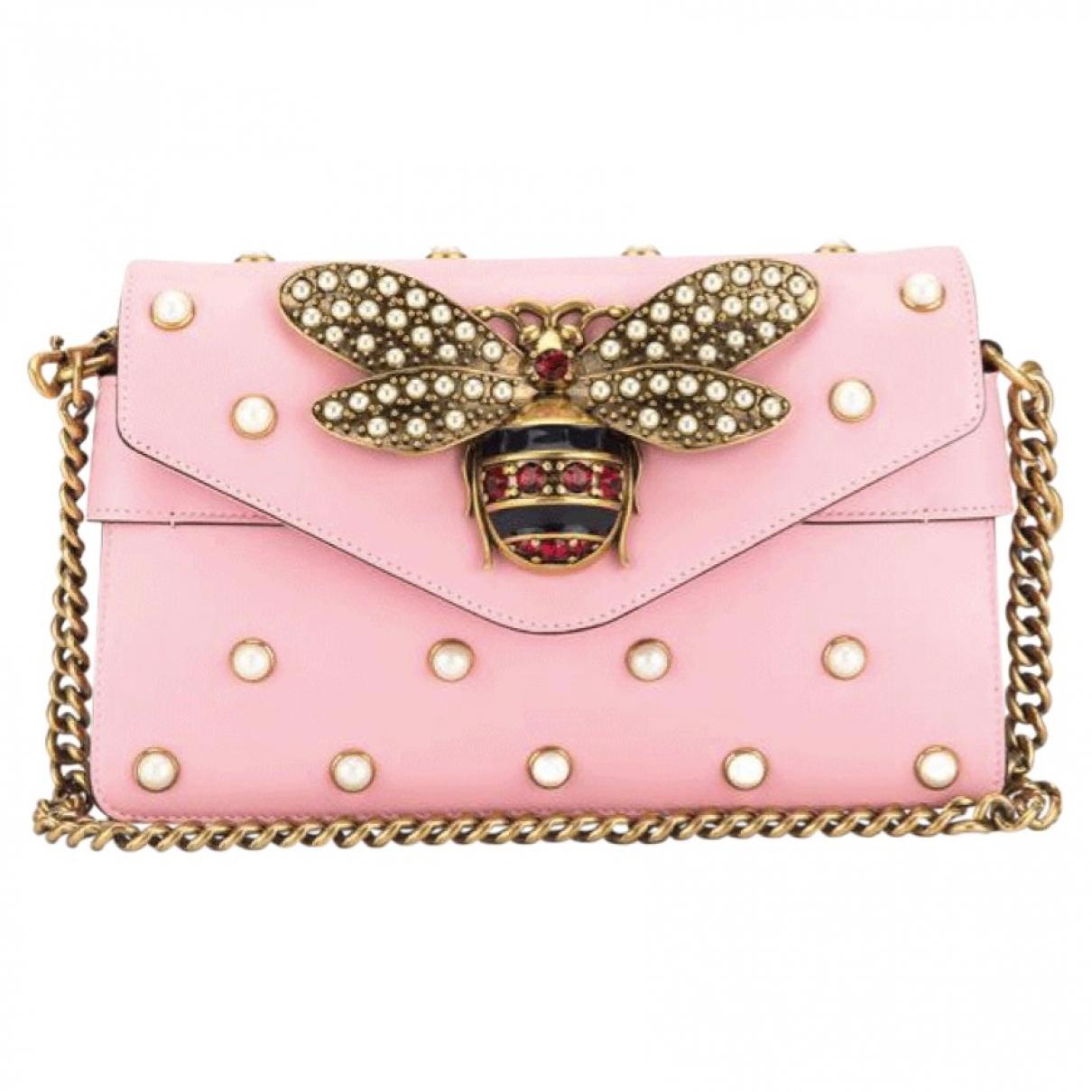 Gucci Broadway Pink Leather handbag for Women \N