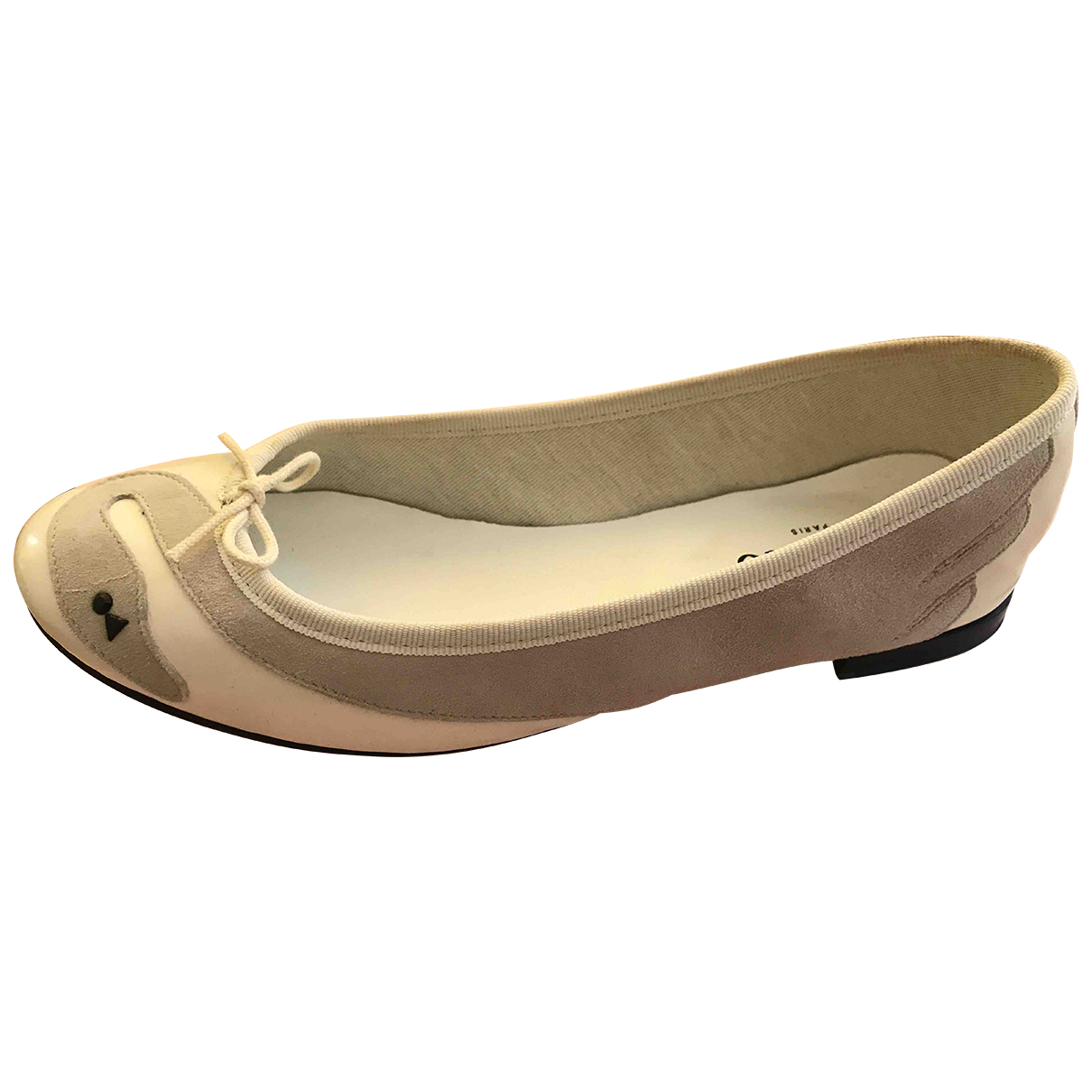 Repetto \N Ballerinas in  Weiss Lackleder