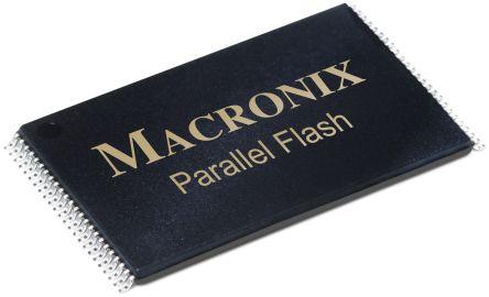 Macronix MX29F800CBTI-70G, Parallel 8Mbit Flash Memory, 70ns, 48-Pin TSOP (2)