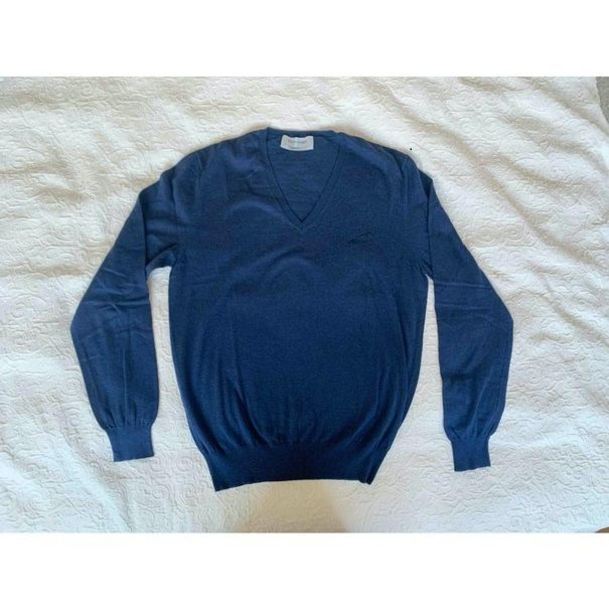 Yves Saint Laurent N Blue Cotton Knitwear & Sweatshirts for Men M International