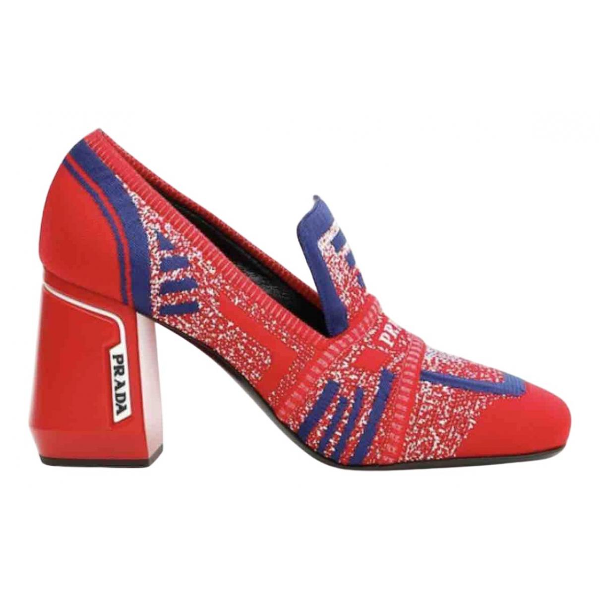 Prada \N Red Cloth Heels for Women 37.5 IT