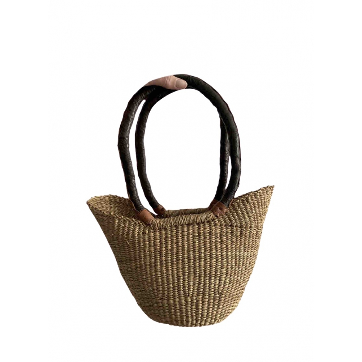 Non Signé / Unsigned \N Camel Wicker handbag for Women \N