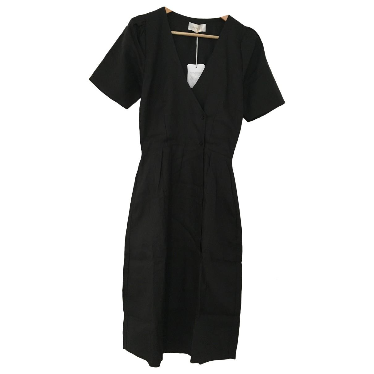 Posse \N Black Linen dress for Women S International