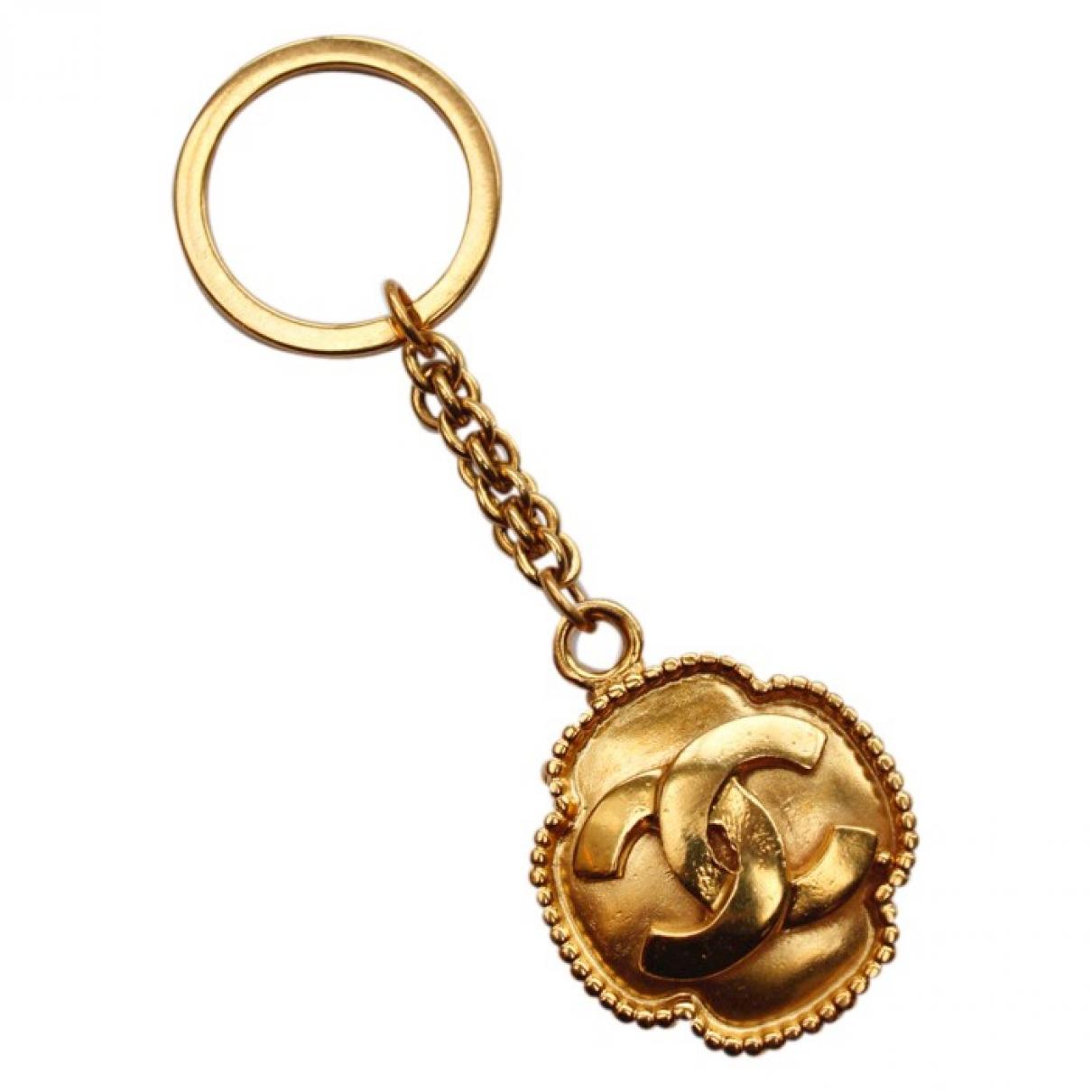 Chanel - Bijoux de sac CC pour femme en metal - dore