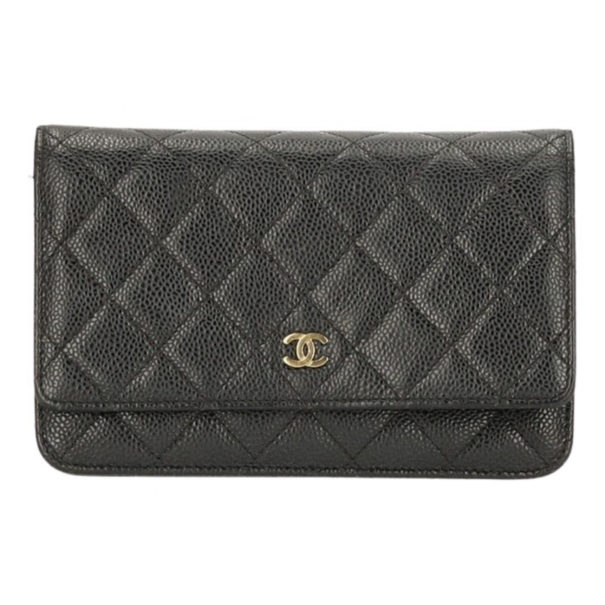 Chanel Wallet on Chain Handtasche in  Schwarz Leder