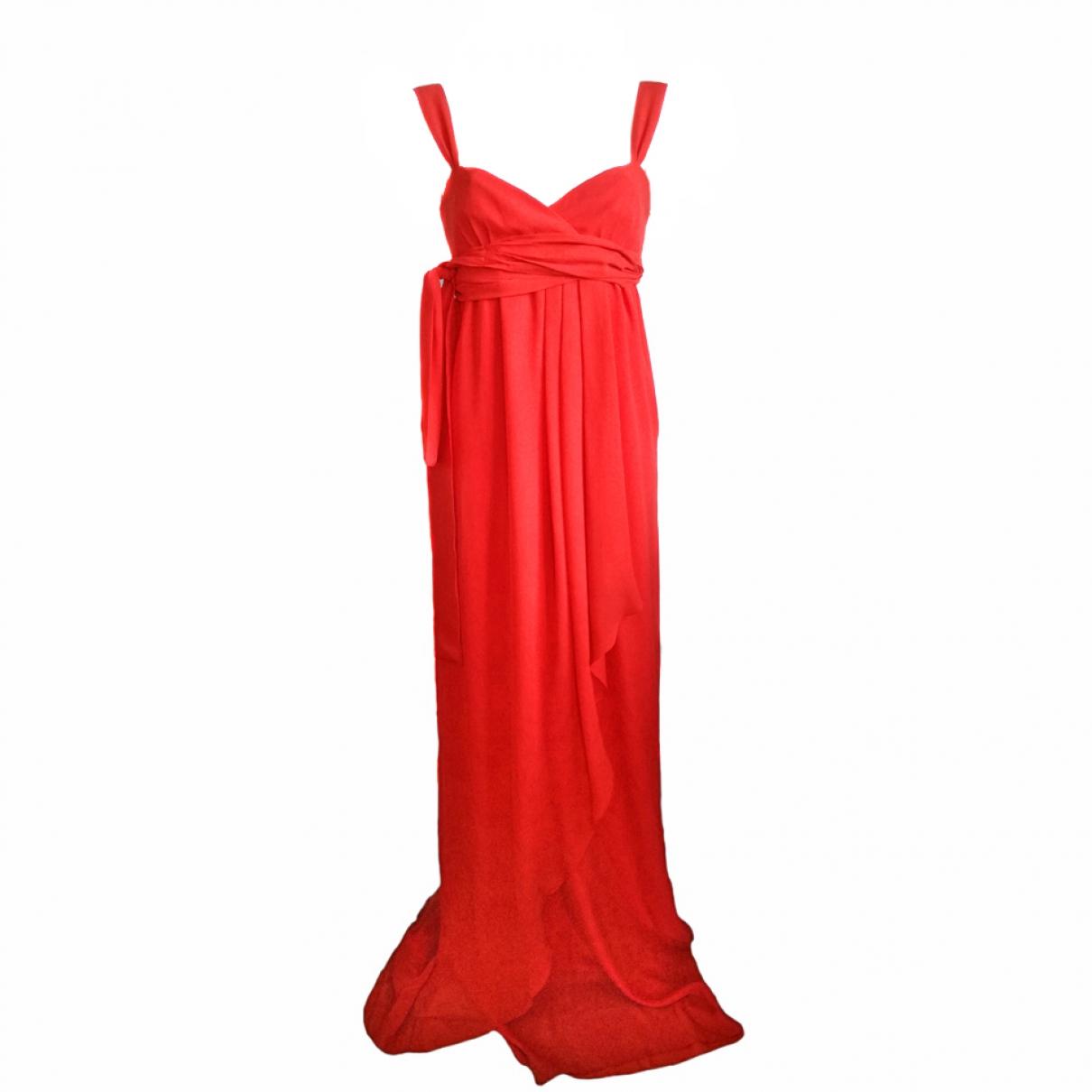 Valentino Garavani \N Red Silk dress for Women 40 IT
