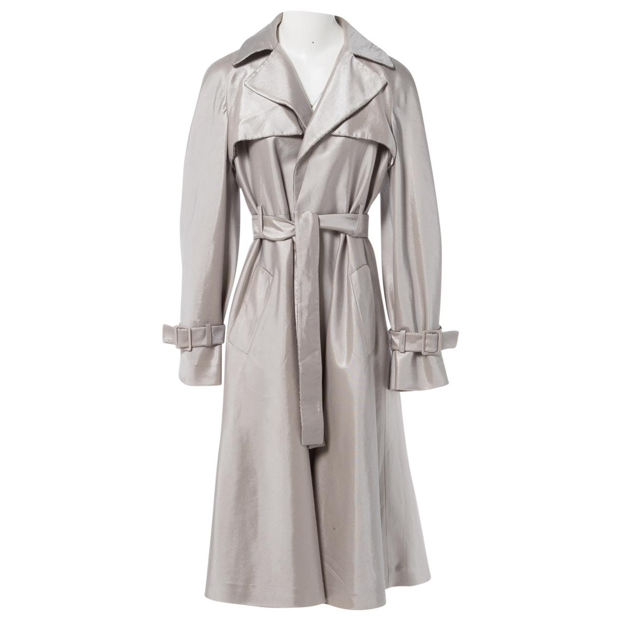 Azzaro \N Silver Trench coat for Women 40 FR